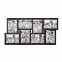 Collage Picture Frame with 8 Openings for 4x6 Photos- Lavish Home (Black)