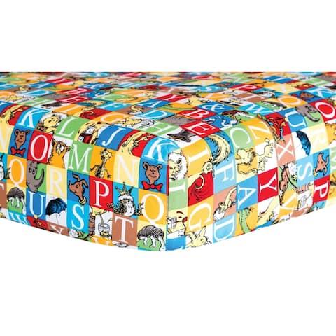 Dr. Seuss Alphabet Seuss Tiles Fitted Crib Sheet