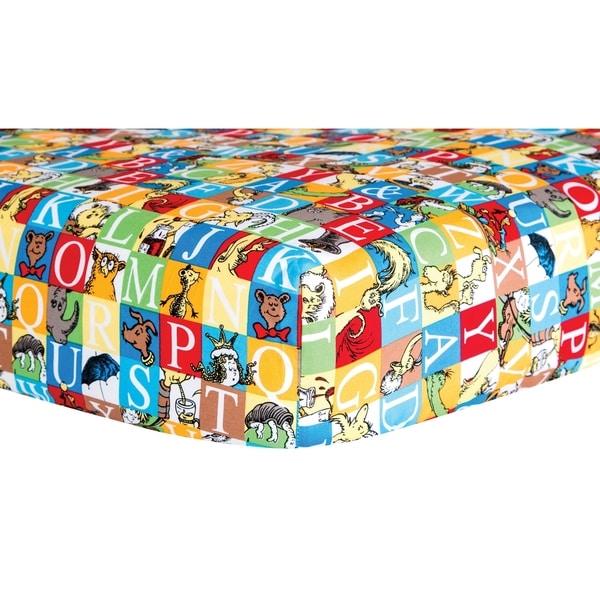 Dr. Seuss Alphabet Seuss Tiles Fitted Crib Sheet. Opens flyout.