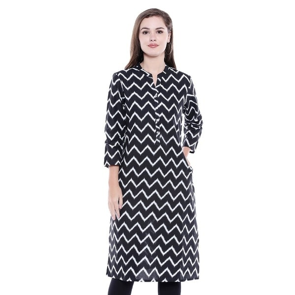 d381f0b16bde8 Shop In-Sattva Women's Indian Summer Collection Zig-Zag Print Cotton ...