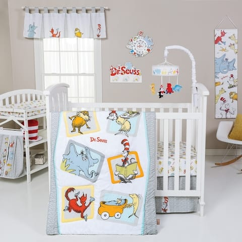 Dr. Seuss Friends 5 Piece Crib Bedding Set