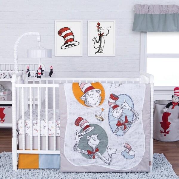 Dr Seuss Clic Cat In The Hat 3 Piece Crib Bedding Set