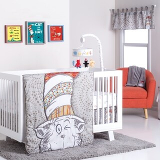 Superieur Dr. Seuss Peek A Boo Cat In The Hat 4 Piece Crib Bedding