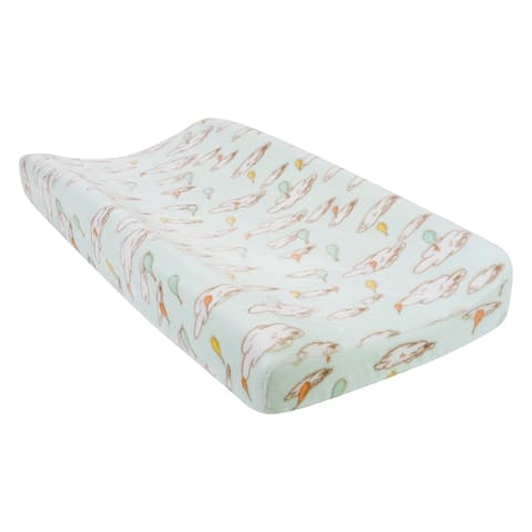 Dr. Seuss Oh, the Places You'll Go! Plush Changing Pad Cover - Green