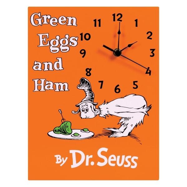 Dr Seuss Green Eggs And Ham Wall Clock