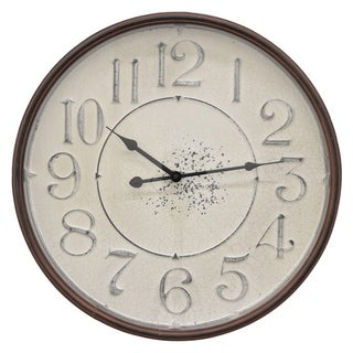 "19 "" Three Hands Metal Wall Clock in Bronze"
