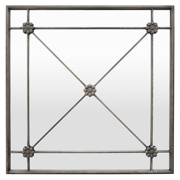 Three Hands Silver 35.25-inch Wall Mirror Decoration