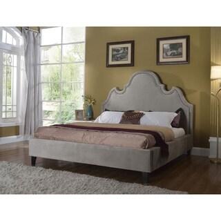 Best Master Furniture Gray Upholstered Platform Bed
