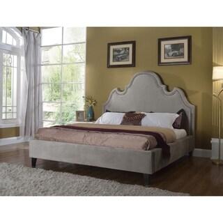 Best Master Furniture Grey Suede Upholstered Platform Bed (3 options available)