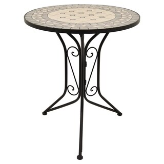 """28 """" Three Hands Bistro Table With Mosaic in Multi-Colored"""