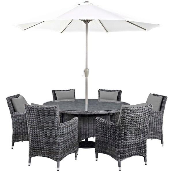 Invite 8 Piece Outdoor Patio Sunbrella® Dining Set