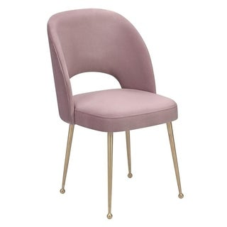 Swell Mauve Velvet Chair
