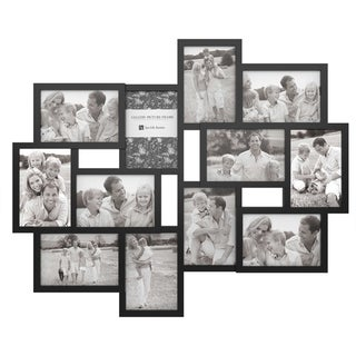Link to Collage Picture Frame with 12 Openings for 4x6 Photos- by Lavish Home (Black) Similar Items in Decorative Accessories