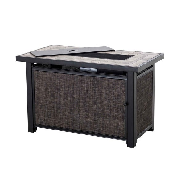 Shop Hartnell Rectangular Fire Pit Table Free Shipping Today