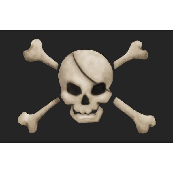 """Shop Pirate's Treasure """"Skull"""" Bathroom Rug/Mat - Free Shipping On Orders Over $45 - Overstock.com - 21449936"""
