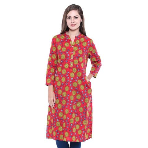 In-Sattva Women's Indian Summer Collection Classic Printed Kurta Tunic