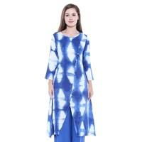 6752030ffe2 Shop In-Sattva Women's Indian Summer Patterned Yoke Off-White Kurta ...