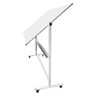 "Thornton's Office Supplies Magnetic Mobile Dry Erase Whiteboard Easel, 70 x 48, 80""h"