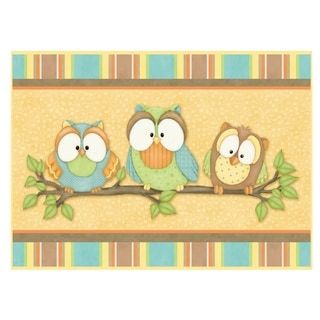 Shop Who S Hoo Owl Memory Foam Bathroom Rug Mat Free