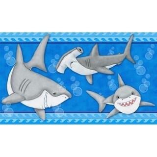 Fish 'N Sharks Memory Foam Bathroom Rug/Mat