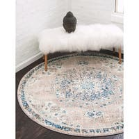 Unique Loom Alexis Carrington Round Rug - 6' x 6'