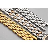Burgi Ladies Diamond Mother of Pearl Gold-tone Python Bracelet Watch