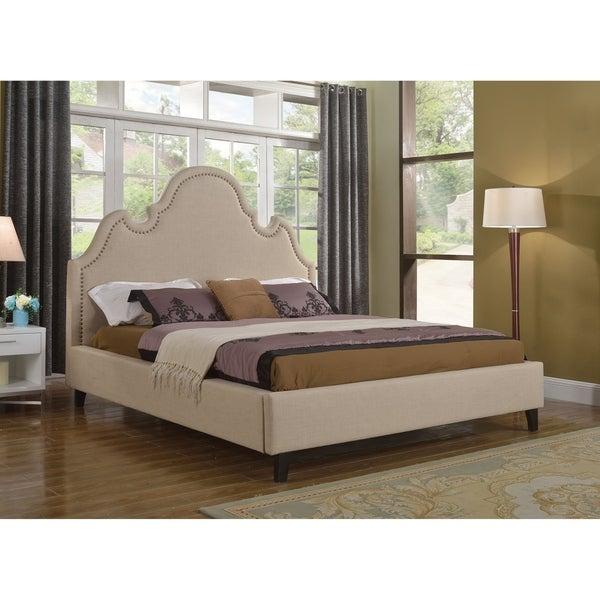 Shop Best Master Furniture Tan Upholstered Platform Bed