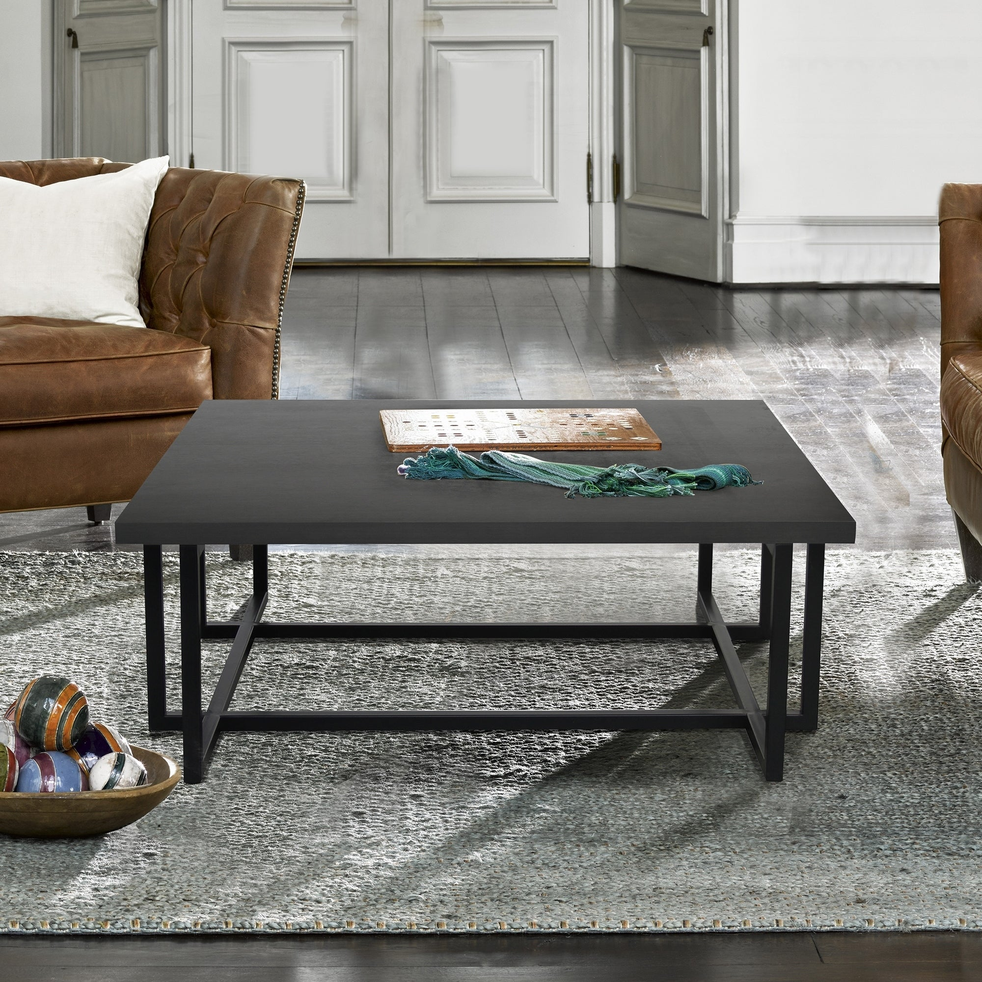 - Shop Armen Living Logan Contemporary Coffee Table With Black Iron