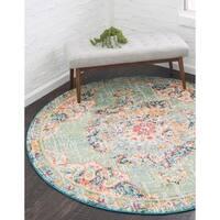 Unique Loom Alexis Carrington Round Rug - 6' x 6'
