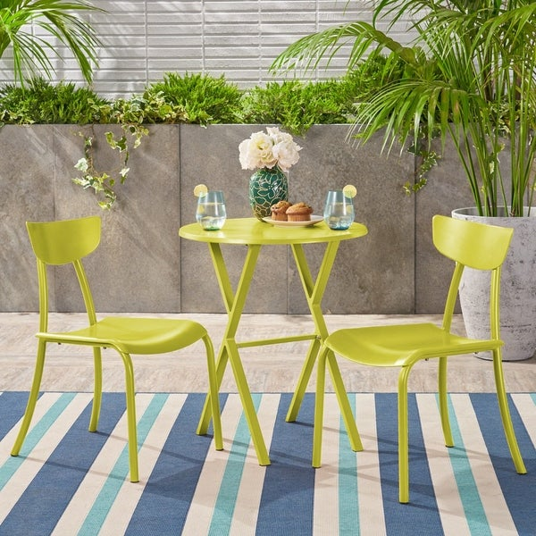Taro 3-piece Outdoor Bistro Set by Christopher Knight Home. Opens flyout.