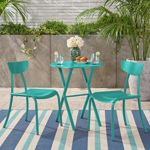 Taro 3-piece Outdoor Bistro Set by Christopher Knight Home