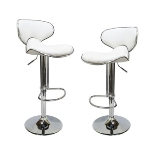 Best Master Furniture Modern Adjustable Swivel Bar Stool (Set of 2)