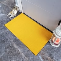 "Maxy Home Hamam Solid Yellow 1 ft. 6 in. x 2 ft. 7 in. Rubber Backed Door Mat - multi - 1'6"" x 2'6"""