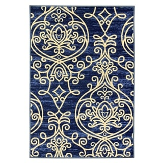 """Maxy Home Alya Chandelier Trendy Multi Colored 18 in. x 31 in. Non Skid Rubber Backed Door Mat - 1'6"""" x 2'6"""""""