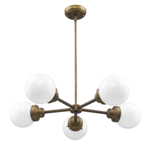 Acclaim Lighting Portsmith Brass-finish Steel 5-light Chandelier