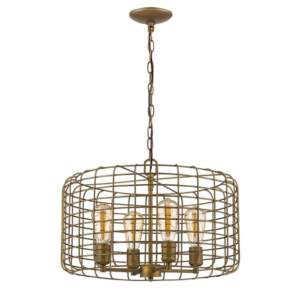 Acclaim Lighting Lynden Brass-finish Steel 6-light Chandelier