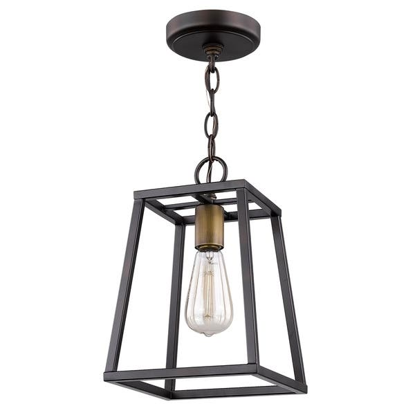 Tiberton 1 Light Oil Rubbed Bronze Pendant Overstock 21451963