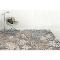 Naomi Handmade Grey/Blue Wool and Silk Rug - 9' x 13'