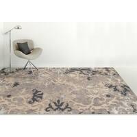Hand-Tufted Naomi Charcoal Wool & Silk Rug - 9' x 13'