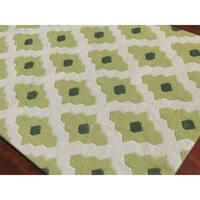 Flat-Weave Sonora Trellis Wool Rug - 8' x 10'