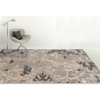 Hand-Tufted Naomi Charcoal Wool & Silk Rug - 8' x 11'