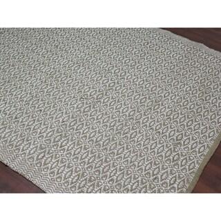 Flat-Weave Pescadero Jute & Silk Rug - 2' x 3'