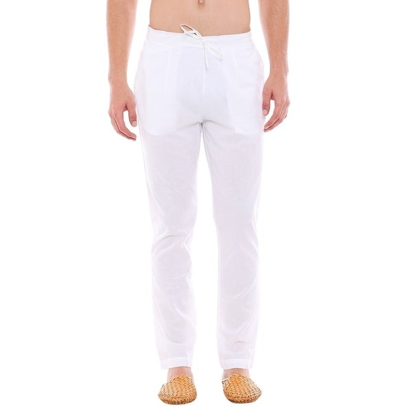 2f86641957f In-Sattva Men  x27 s Indian Pure Cotton Solid Straight Cut Pajama Pants