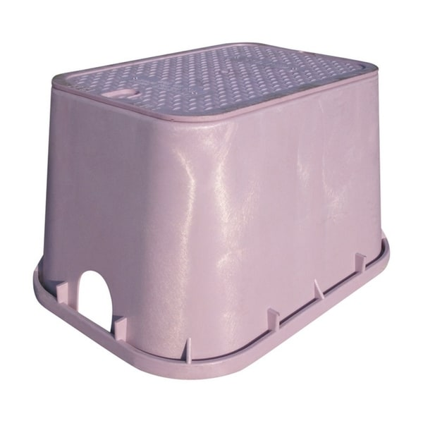 NDS 14 in. L x 19 in. W Rectangular Valve Box with Overlapping Cover