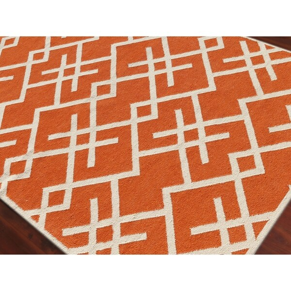 Flat-Weave Sonora Geometric Wool Rug - 2' x 3'