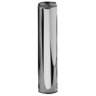 Selkirk 6 in. Dia. x 36 in. L Stainless Steel Chimney Pipe Metallic