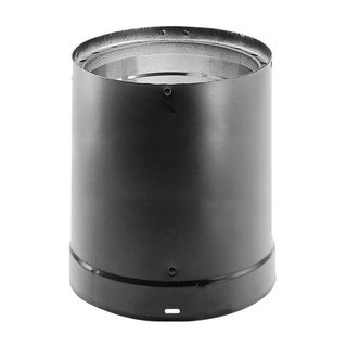 Simpson Duravent 6 in. Dia. x 24 in. L Stainless Steel Double Wall Stove Pipe Black
