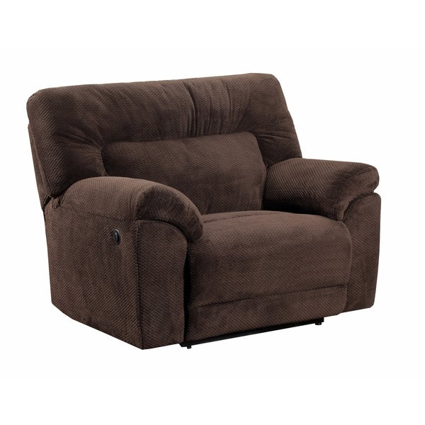 Shop Simmons Upholstery Madeline Chocolate Power Cuddler