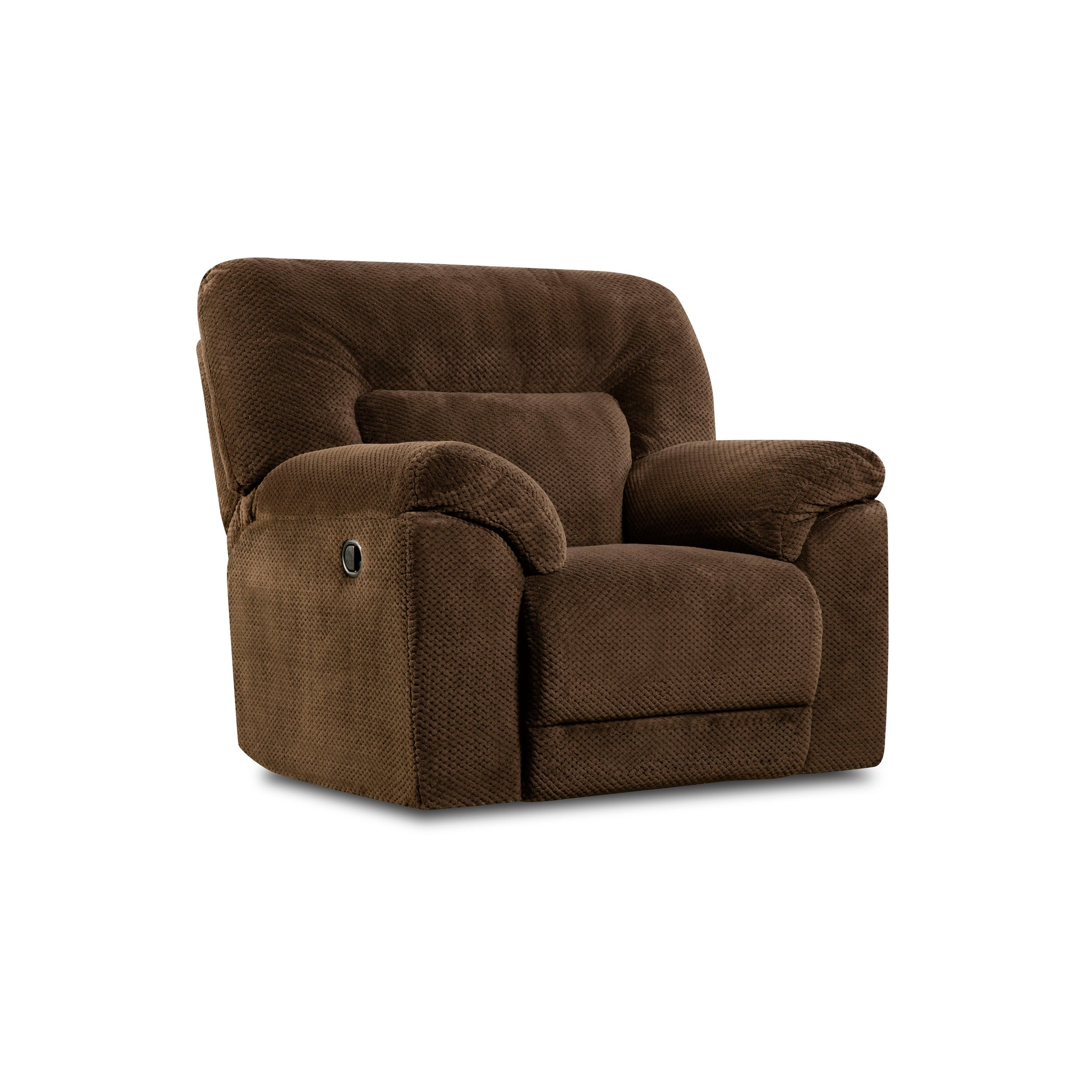 Surprising Simmons Upholstery Madeline Chocolate Swivel Glider Recliner Ocoug Best Dining Table And Chair Ideas Images Ocougorg