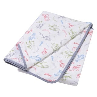 Dr. Seuss New Fish Luxe Muslin Blanket